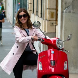 Deya with a Red Vespa