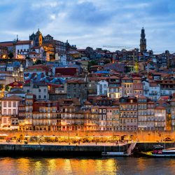 Porto Portugal in the Evening